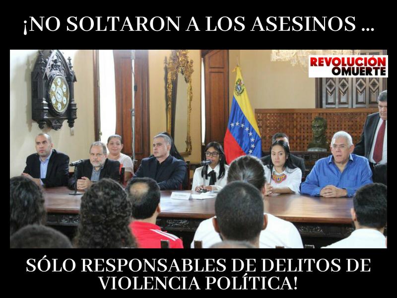 ¡NO SOLTARON A LOS ASESINOS, SÓLO RESPOSABLES DE DELITOS DE VIOLENCIA POLÍTICA!