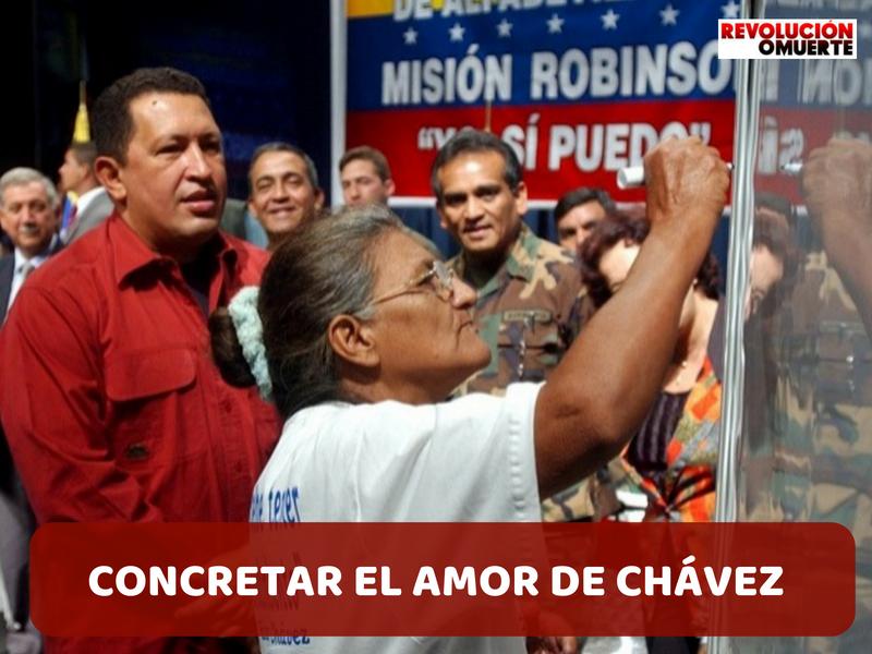 CONCRETAR EL AMOR DE CHÁVEZ