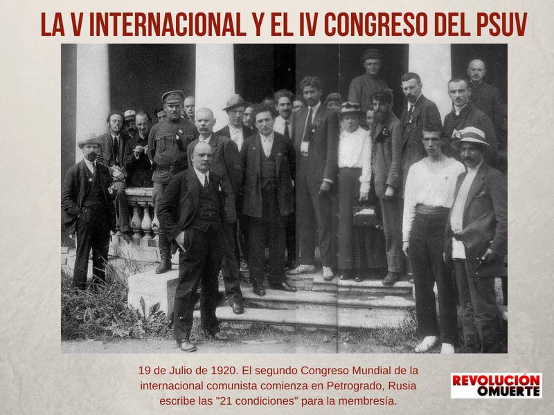 19 De Julio De 1920 El Segundo Congreso Mundial De La Internacional Comunista Comienza En Petrogrado, Rusia Escribe Las 21 Condiciones Para La Membresía.