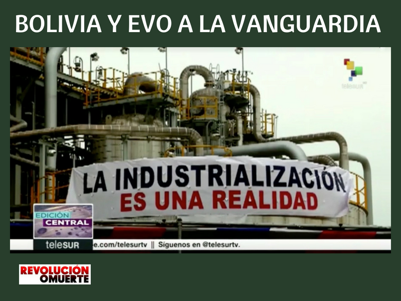 BOLIVIA Y EVO A LA VANGUARDIA