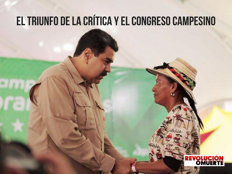 EL TRIUNFO DE LA CRÍTICA Y EL CONGRESO CAMPESINO