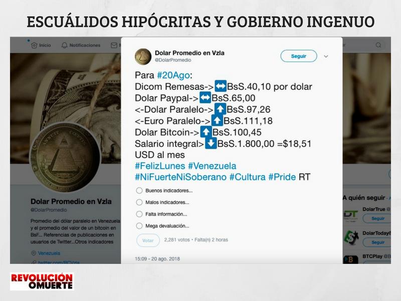 ESCUÁLIDOS HIPÓCRITAS Y GOBIERNO INGENUO