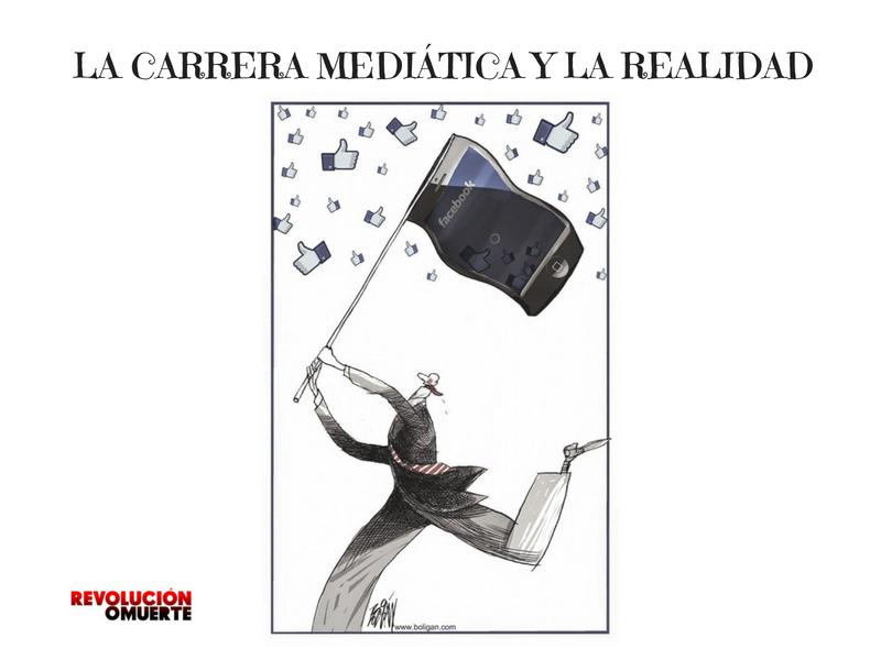 LA CARRERA MEDIÁTICA Y LA REALIDAD