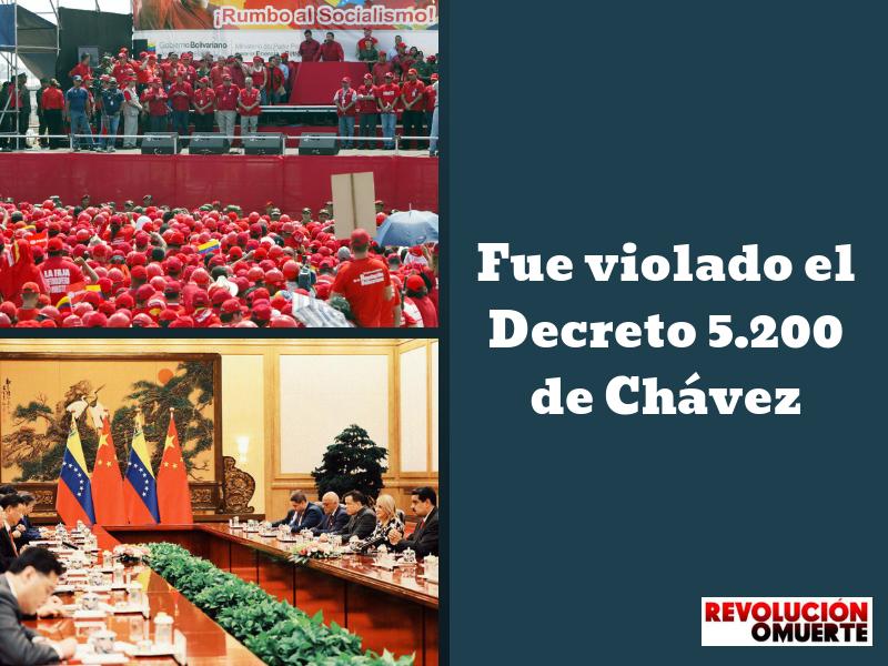 Fue Violado El Decreto 5.2á00 De Chávez 2