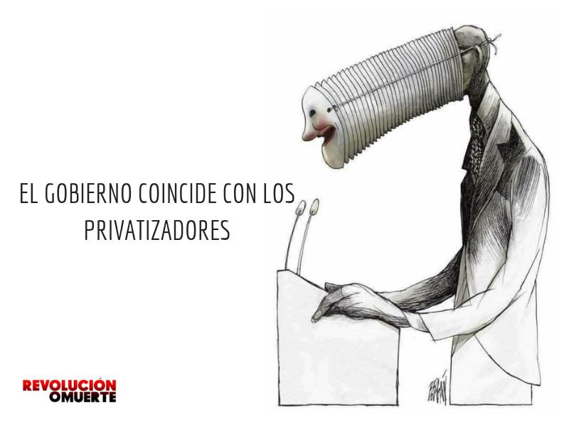 EL GOBIERNO COINCIDE CON LOS PRIVATIZADORES