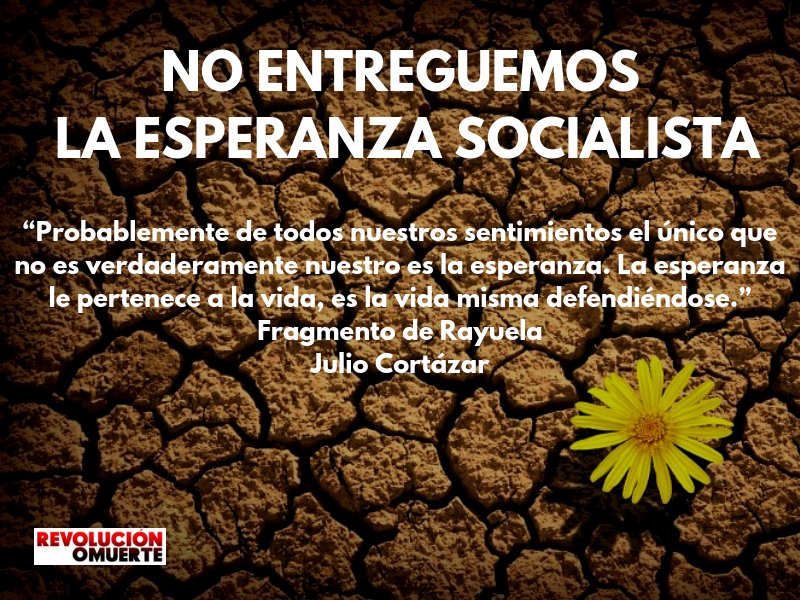 EDITORIAL: NO ENTREGUEMOS LA ESPERANZA SOCIALISTA