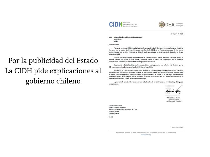 Por La Publicidad Del Estado La CIDH Pide Explicaciones Al Gobierno