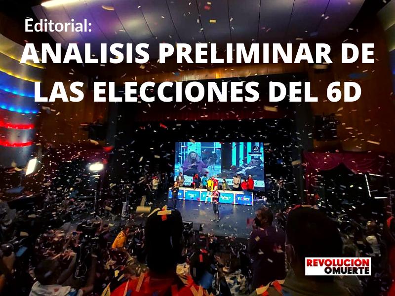 EDITORIAL: ANÁLISIS PRELIMINAR DE LAS ELECCIONES DEL 6D